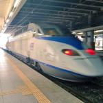 KTX初乗車で釜山から東大邱へ行く